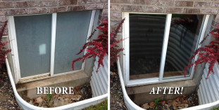 Eagle Mountain Window Cleaning Before and After